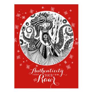 Autenticidade vermelha do cartão da bruxa   do mar
