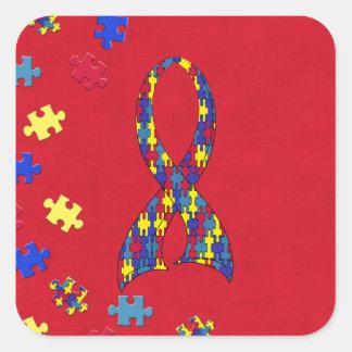 Autismo Adesivo Quadrado