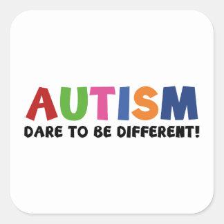 Autismo - desafio a ser diferente adesivo quadrado