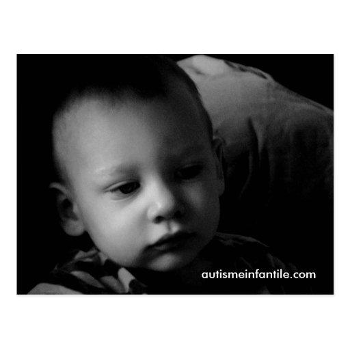 Autismo Infantil: Matthieu (N & B) Cartao Postal