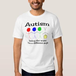 Autismo que vê o mundo de um ângulo diferente camiseta