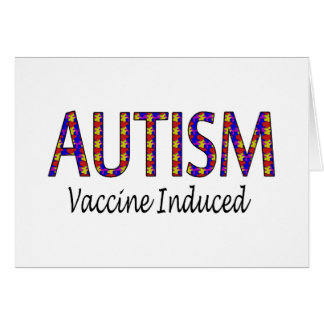 Autismo vacina induzida cartões