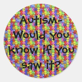 Autismo- você kno… - Personalizado Adesivo