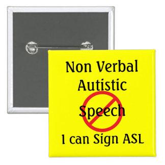 Autístico não verbal botons
