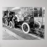Auto cadeia de fabricação, 1920 posteres