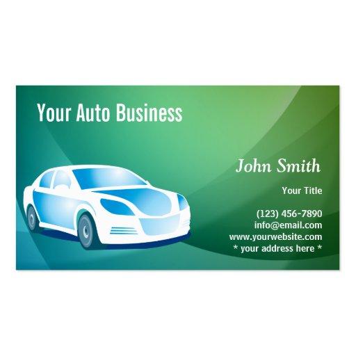 Auto cartão de visita de detalhe móvel azul abstra