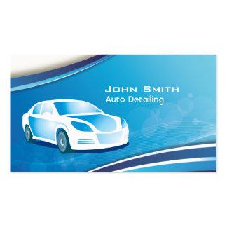 Auto cartão de visita de detalhe móvel azul do car