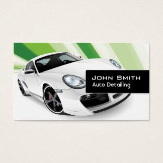 Auto cartão de visita de detalhe móvel verde do