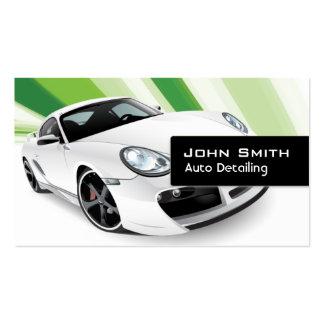 Auto cartão de visita de detalhe móvel verde do ca