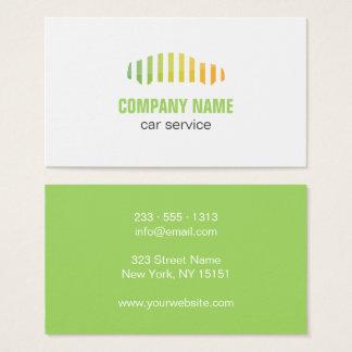Auto cartão de visita do logotipo do serviço do