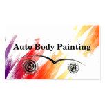 Auto cartões de visitas da pintura do corpo