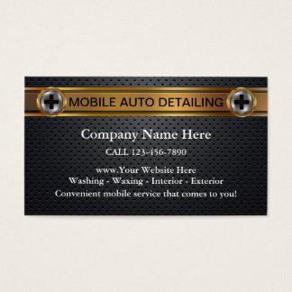 Auto cartões de visitas de detalhe móveis