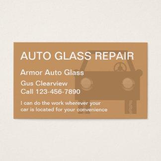 Auto cartões de visitas de vidro