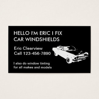 Auto cartões de visitas de vidro simples