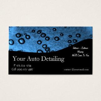Auto detalhe cartão de visitas