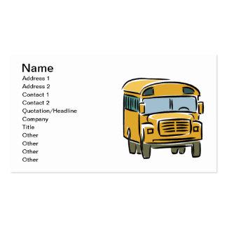 Auto escolar 2 cartão de visita