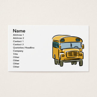 Auto escolar 2 cartão de visitas