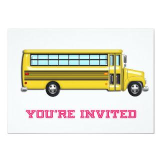 Auto escolar amarelo brilhante convidado convite 12.7 x 17.78cm
