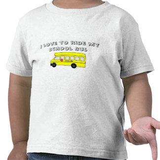 Auto escolar amarelo camisetas
