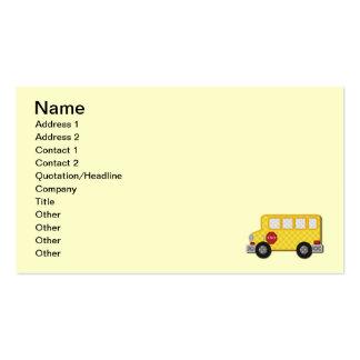 Auto escolar amarelo cartão de visita