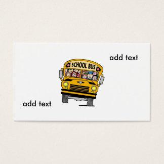 auto escolar amarelo cartão de visitas