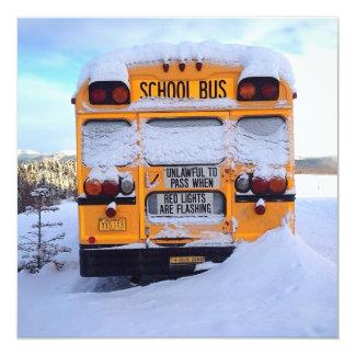 Auto escolar amarelo convite personalizados