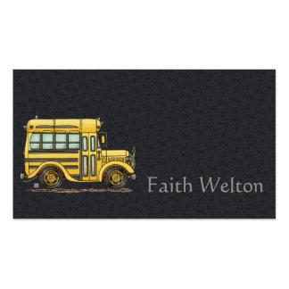 Auto escolar bonito cartão de visita