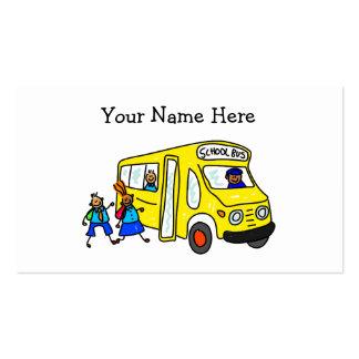 Auto escolar modelo cartão de visita