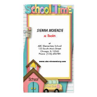 Auto escolar cartão de visita