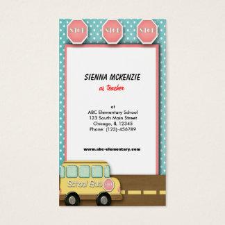 Auto escolar cartão de visitas
