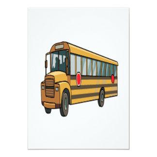 Auto escolar convite 12.7 x 17.78cm