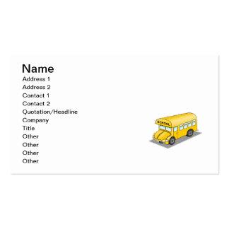 Auto escolar curto cartão de visita