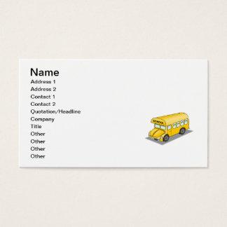 Auto escolar curto cartão de visitas