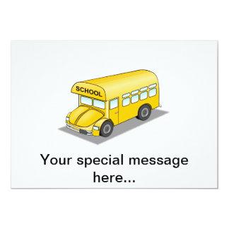 Auto escolar curto convite 12.7 x 17.78cm