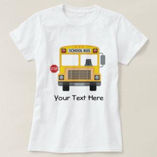 Auto escolar customizável camiseta