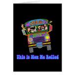 Auto escolar do Hippie Cartão