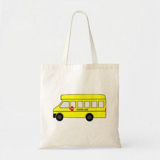 Auto escolar dos desenhos animados bolsa para compra