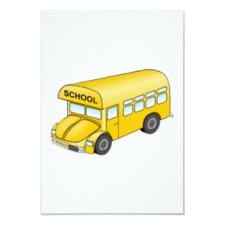 Auto escolar dos desenhos animados convite