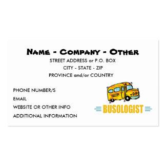 Auto escolar engraçado cartão de visita