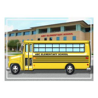 Auto escolar na escola