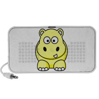 Auto-falante amarelos do hipopótamo caixinha de som para viagem