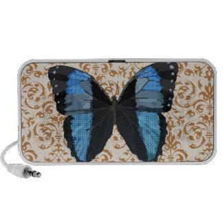 Auto-falante azul do Doodle da borboleta de Boho Caixinhas De Som Para iPhone