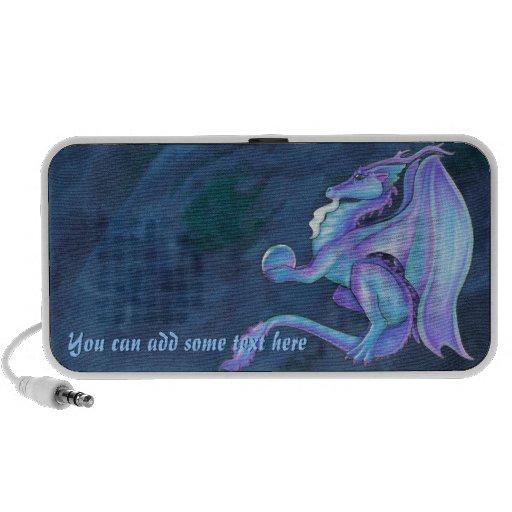 Auto-falante azul do dragão caixinhas de som para iPhone