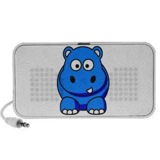 Auto-falante azul do hipopótamo caixinha de som