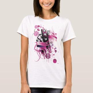 Auto-falante cor-de-rosa Funky Camiseta