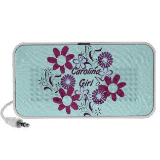 Auto-falante do Doodle das flores de Carolina Girl Caixinhas De Som Para Laptop
