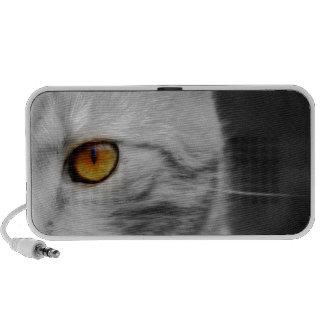 Auto-falante do Doodle do olho de gatos Caixinha De Som Para Notebook