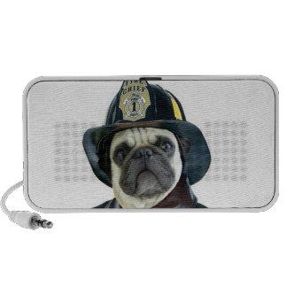 Auto-falante do doodle do pug do bombeiro caixinhas de som para mp3