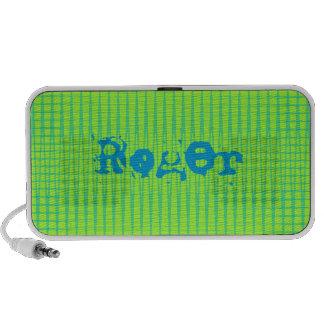 Auto-falante do Doodle do teste padrão ondulado Caixinha De Som Para iPod