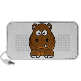 Auto-falante do hipopótamo de Brown Caixinhas De Som De Viagem